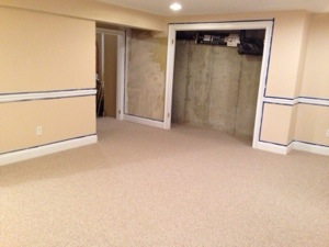 finishing a basement adds more space and offers a variety of storage